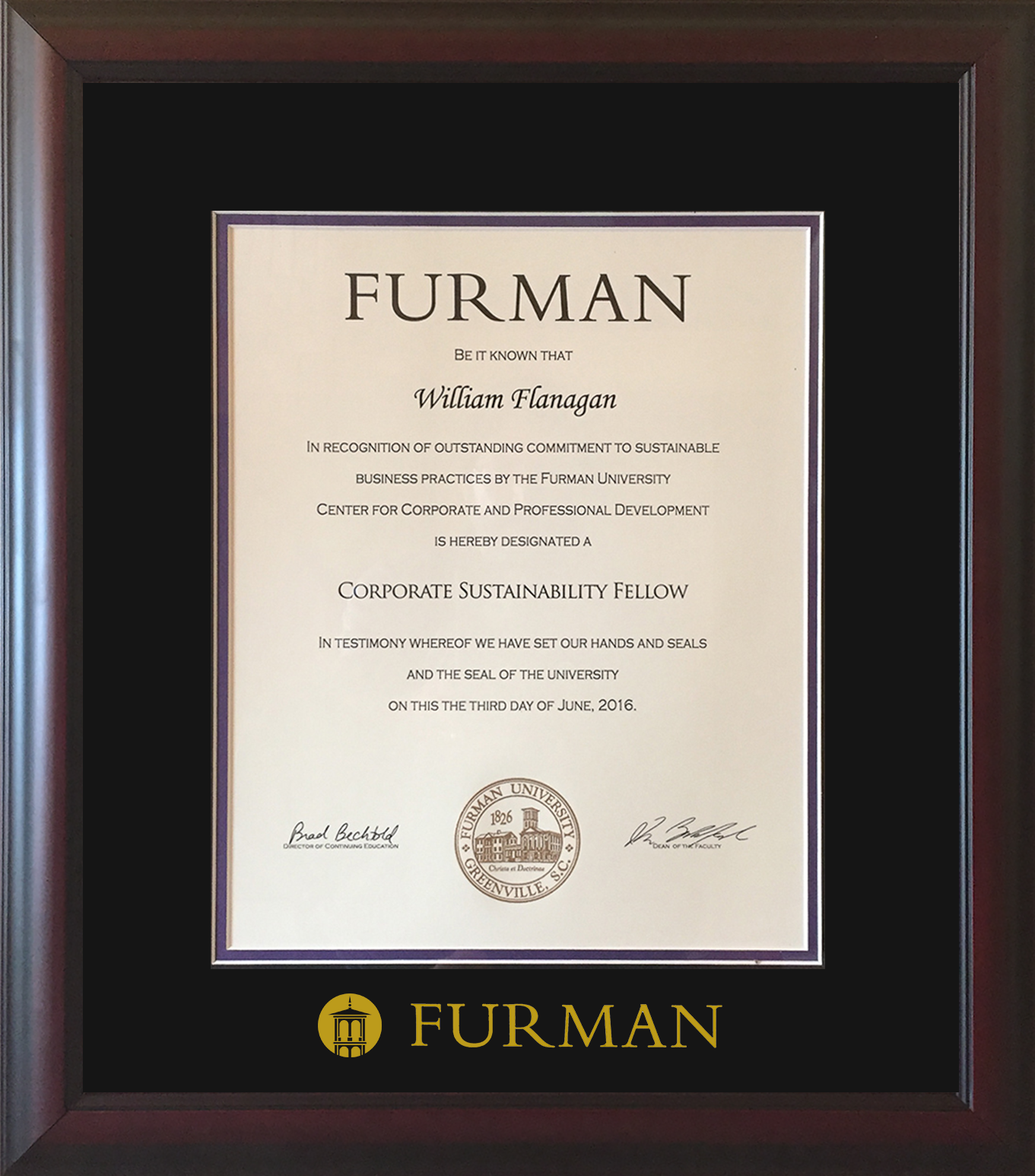 Bill Flanagan Recognized As Corporate Sustainability Fellow Aspire Sustainability